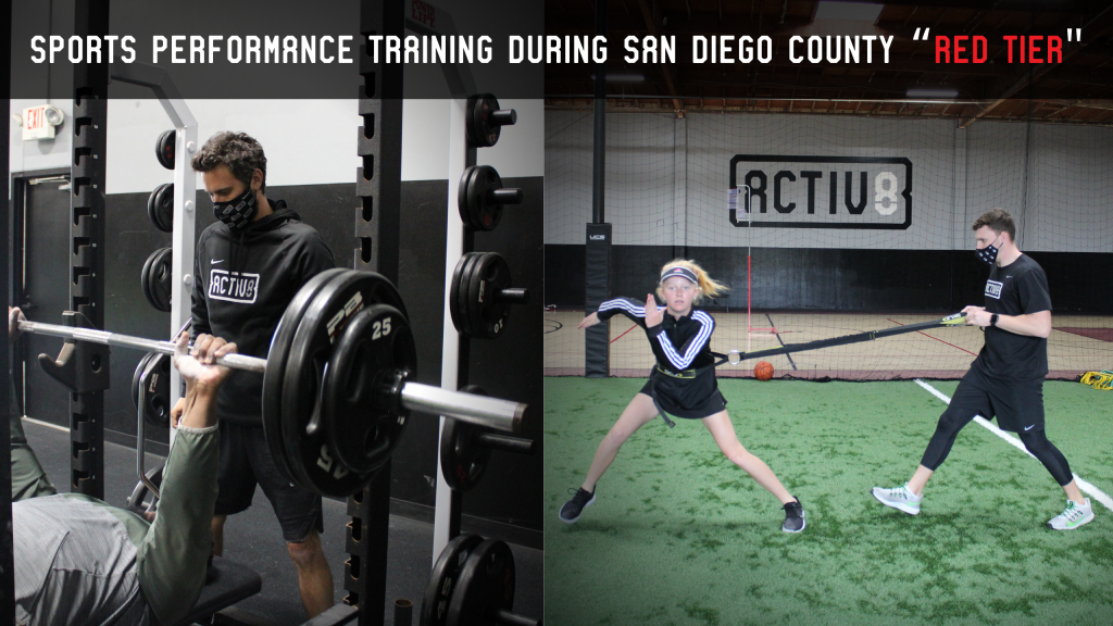 """Sports Performance Training During San Diego County Tier 2, or """"Red Tier"""""""